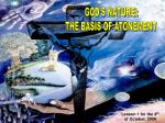 GOD'S NATURE: THE BASIS OF ATONEMENT