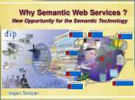 Why Semantic Web Services ?