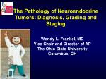 The Pathology of Neuroendocrine Tumors: Diagnosis, Grading and Staging