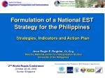 Formulation of a National EST Strategy for the Philippines