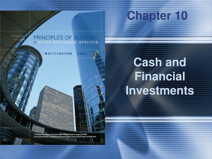cash and financial investments n.
