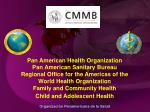 Pan American Health Organization Pan American Sanitary Bureau Regional Office for the Americas of the World Health Orga