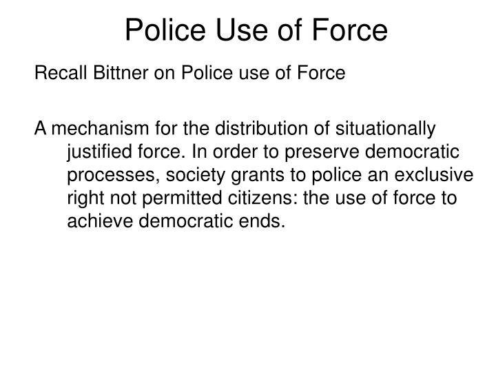 police use of force n.