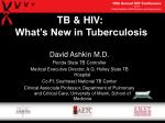 TB & HIV: What's New in Tuberculosis