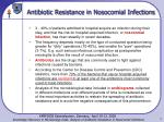 Antibiotic Resistance in Nosocomial Infections
