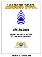 "SFC Big Dawg HEADQUARTERS PLATOON 4 TH CHEMICAL COMPANY ""CHEMICAL DRAGONS"""