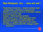 Red Simpson, Inc. -  who are we?