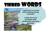 TIERED WORDS