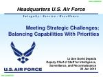 Meeting Strategic Challenges:  Balancing Capabilities With Priorities