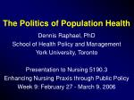 The Politics of Population Health