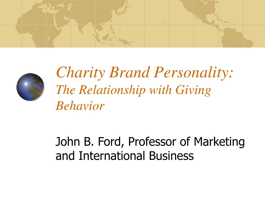charity brand personality the relationship with giving behavior l.