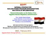 Prof. Abdel Hamid Nada Head, Radiation Control Division National Center for Nuclear Safety and Radiation Control (NCNSR