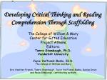Developing Critical Thinking and Reading Comprehension Through Scaffolding