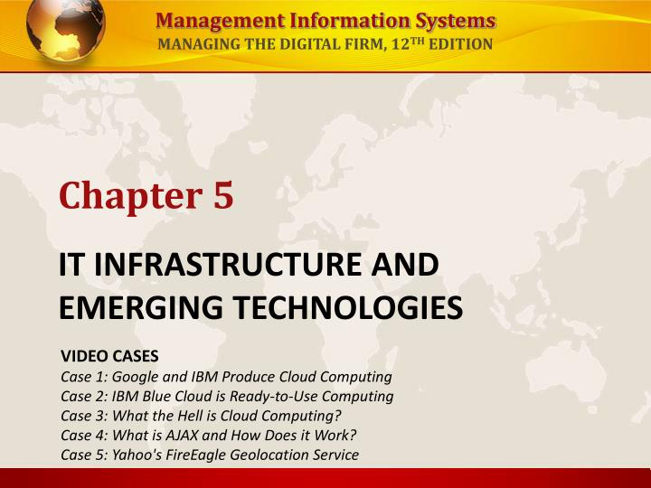 it infrastructure and emerging technologies n.