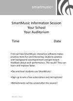 SmartMusic Information Session Your School Your Auditorium Time Date