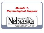 Module 1-  Psychological Support
