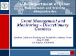U.S. Department of Labor Employment and Training Administration