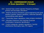 G1 - COMMISSION'S RULES [5 Exam Questions -- 5 Groups]