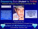 Prepared for the Professional Learning Community of  Russell County Teachers of Mathematics  (Grades 5 – 7) by Dan Mulli