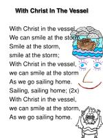 With Christ In The Vessel