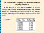 5.3 Intermediate coupling: the transition between coupling schemes-1