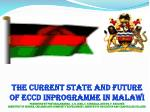 2.0 MEANING AND FOCUS ECCD IN MALAWI EARLY CHILDHOOD DEVELOPMENT (ECD)