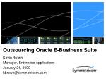Outsourcing Oracle E-Business Suite