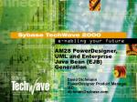 AM28 PowerDesigner, UML and Enterprise Java Bean (EJB) Generation