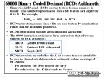 68000 Binary Coded Decimal (BCD) Arithmetic