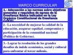 MARCO CURRICULAR