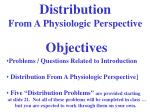 Distribution From A Physiologic Perspective