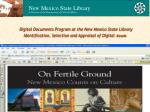 Digital Documents Program at the New Mexico State Library Identification, Selection and Appraisal of Digital Assets