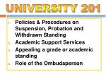 Policies & Procedures on Suspension, Probation and Withdrawn Standing Academic Support Services Appealing a grade o