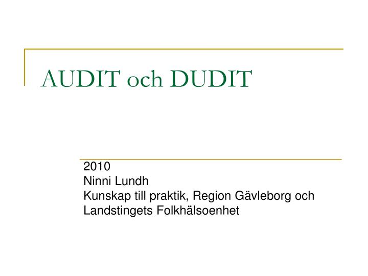 audit och dudit n.