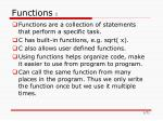 Functions  I