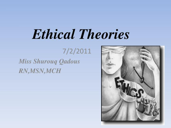 ethical theories n.