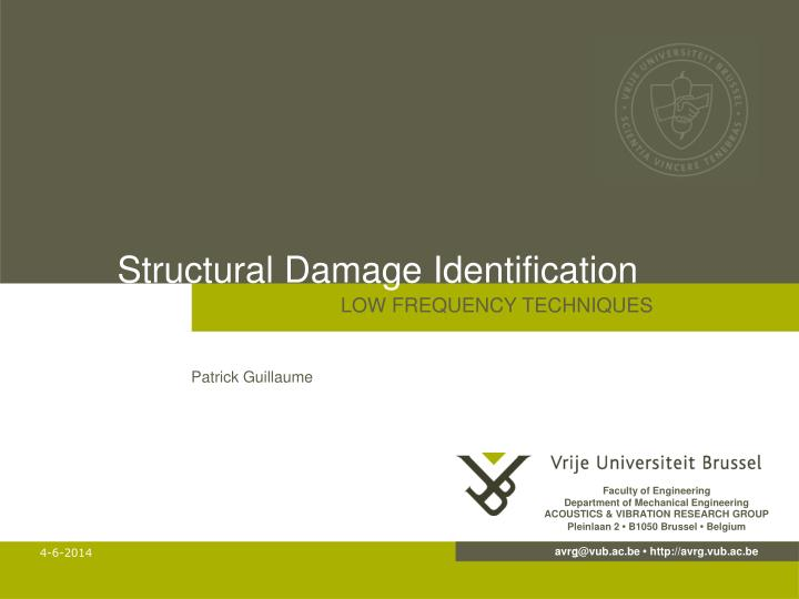 structural damage identification n.