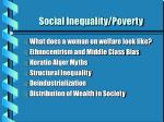 Social Inequality/Poverty