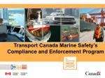 Transport Canada Marine Safety's Compliance and Enforcement Program