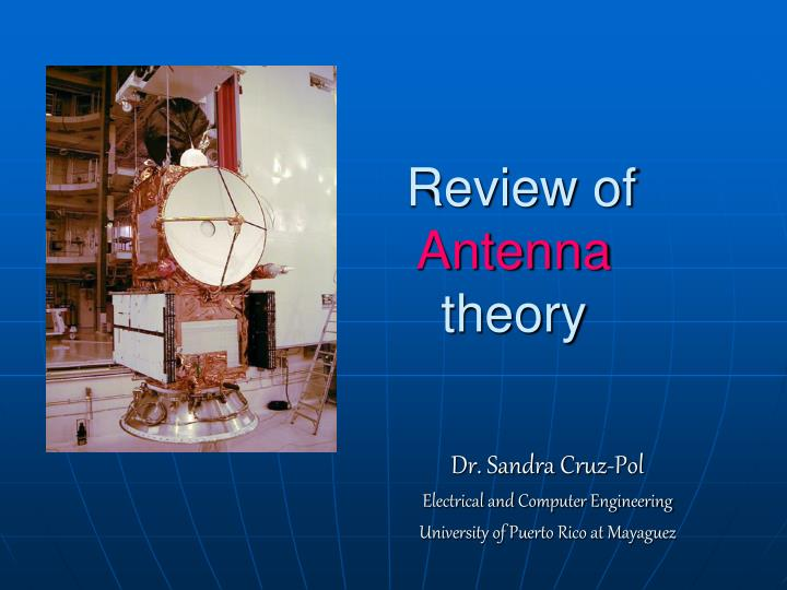 review of antenna theory n.