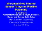 Micromachined Infrared Sensor Arrays on Flexible Polyimide Substrates