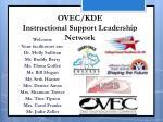 OVEC/KDE Instructional Support Leadership Network