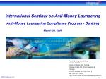 Prepared and presented by: Lauren L. Pickett Director of Global AML Training Citigroup Global Anti-Money Laundering Citi