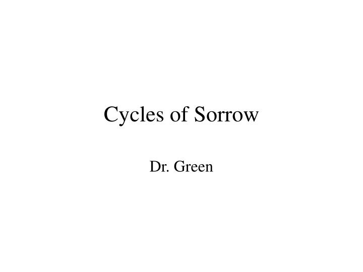 cycles of sorrow n.