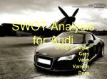 SWOT Analysis for Audi