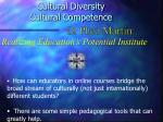 Cultural Diversity   Cultural Competence