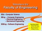 Welcome to the Faculty of Engineering