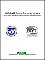 IMF-BAFT Trade Finance Survey A Survey Among Banks Assessing the Current Trade Finance Environment Market Research &amp