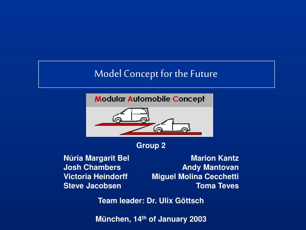 Model Concept for the Future
