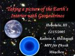 Taking a picture of the Earth's Interior with Geoneutrinos